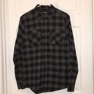 Carbon Men's Long Sleeve Lightweight Flannel